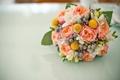 Картинка wedding, roses, bouquet, розы, букет, flowers, свадьба
