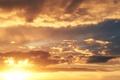 Картинка небо, солнце, облака, лучи