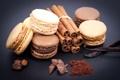 Картинка кофе, шоколад, зерна, печенье, сладости, десерт, ваниль