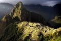 Картинка небо, свет, горы, тучи, руины, древний город, Перу