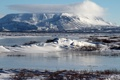 Картинка Blаfjall, пейзаж, Исландия, природа, горы, снег