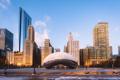 Картинка Chicago, Illinois, America, Cloud Gate, Frozen Bean