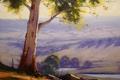 Картинка дерево, Рисунок, арт, artsaus, Hazy Morning Cottles Bridge