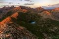 Картинка облака, горы, озеро, рассвет, Matt Payn