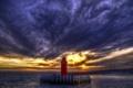Картинка ночь, море, маяк