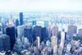 Картинка Нью-Йорк, небоскребы, панорама, США, Манхэттен, мегаполис