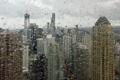 Картинка капли, город, chicago, окно, макро, чикаго