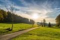 Картинка дорога, пейзаж, утро