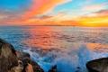 Картинка небо, облака, озеро, лодка, парус