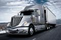 Картинка дорога, небо, грузовик, International, track, тягач, трак