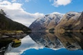 Картинка горы, Природа, отражение, лодка, озеро