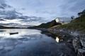 Картинка лес, озеро, лодка, здание, Petter Dass Museum
