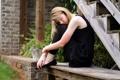 Картинка девушка, лестница, настроение