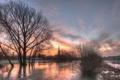 Картинка Cathedral, water, Wiltshire, Salisbury, floods