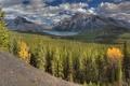 Картинка лес, деревья, горы, озеро, Alberta, Canada, Banff