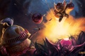Картинка League of Legends, бомбы, Swift Scout, Ziggs, Hexplosives Expert, moba, взрыв