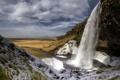 Картинка гора, пейзаж, водопад