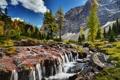Картинка деревья, горы, Канада, речка, Canada, Yoho National Park