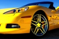 Картинка машина, авто, кабриолет, желтая