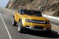 Картинка дорога, желтый, концепт, автомобиль, land rover, dc100, 2011m