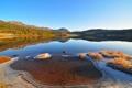Картинка лед, лес, природа, озеро, отражение, Пейзаж