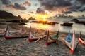 Картинка море, лодки, утро