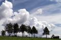 Картинка небо, деревья, пейзаж, дом