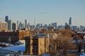 Картинка зима, снег, город, небоскребы, панорама, чикаго, Chicago