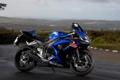 Картинка синий, мотоцикл, Suzuki, moto, blue, сузуки, GSX-R 1000