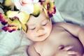 Картинка цветы, улыбка, сон, ребёнок