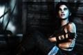 Картинка взгляд, девушка, кровь, игра, арт, рана, Lara Croft