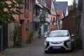 Картинка город, Opel, белая, Ampera