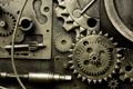 Картинка металл, механизм, шестерёнки