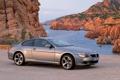 Картинка Серый, BMW, Море, 6 Series, Купэ, Вид сбоку, Скалы