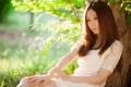 Картинка азиатка, девушка, настроение, лето