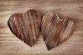 Картинка дерево, сердца, сердечки, деревянные