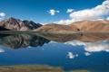 Картинка горы, озеро, Тибет, Tibet, панорамма, India, Pangong Lake
