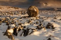 Картинка зима, снег, горы, камни, Англия, Ingleborough, Йоркшир-Дейлз