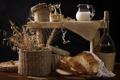 Картинка еда, молоко, хлеб