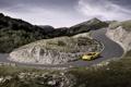 Картинка Феррари, Italia, Дорога, Желтый, 458, Ferrari, Авто