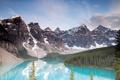 Картинка лес, облака, горы, озера