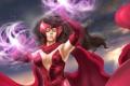 Картинка фантастика, арт, костюм, красные, Marvel, способности, Scarlet Witch