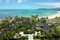 Картинка отель, пейзаж, берег, ареал, вид, пальмы, море