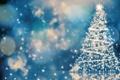 Картинка праздник, елка, огоньки, Christmas