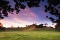Картинка лето, небо, трава, деревья, природа, фото, холмы