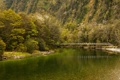 Картинка Fiordland National Park, река, деревья, Clinton River, горы, мост, Новая Зеландия