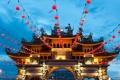 Картинка украшения, фонарики, Малайзия, Пенанг, Храм девяти императорских богов