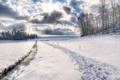 Картинка зима, солнце, снег, природа