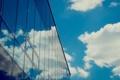 Картинка облака, стекло, небо, Здание