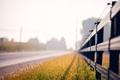 Картинка трава, забор, дорога